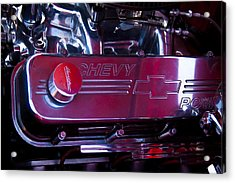 The Engine In A 1956 Chevy Bel Air Custom Hot Rod Acrylic Print by David Patterson