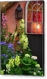 The English Cottage Window Acrylic Print