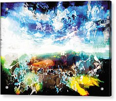 Acrylic Print featuring the painting The Entanglement 2 by The Art of Marsha Charlebois