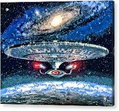 The Enterprise Acrylic Print by Joe Misrasi