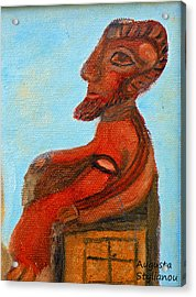 The Enthroned God Ares Acrylic Print by Augusta Stylianou