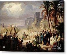 The Entry Of Christ Into Jerusalem Acrylic Print