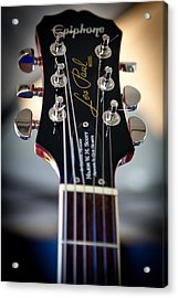 The Epiphone Les Paul Guitar Acrylic Print by David Patterson