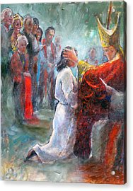 Acrylic Print featuring the painting The Episcopal Ordination Of Sierra Wilkinson by Gertrude Palmer