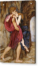 The Escape Acrylic Print by John Roddam Spencer Stanhope