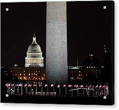 The Essence Of Washington At Night Acrylic Print