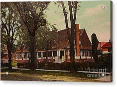 The Evanston Club In Evanston Il In 1910 Acrylic Print by Dwight Goss