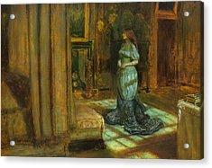 The Eve Of St Agnes Acrylic Print by John Everett Millais