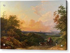 The Evening Coach, London In The Distance The Evening Coach Acrylic Print