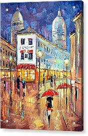 The Evening Lights Of Paris Acrylic Print