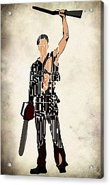 The Evil Dead - Bruce Campbell Acrylic Print