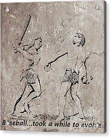 The Evolution Of Baseball Acrylic Print by John Malone