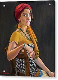 The Exotic Girl Acrylic Print by Dominique Amendola