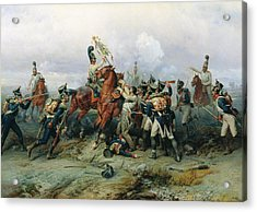The Exploit Of The Mounted Regiment In The Battle Of Austerlitz, 1884 Oil On Canvas Acrylic Print