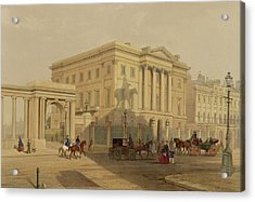 The Exterior Of Apsley House, 1853 Acrylic Print by English School