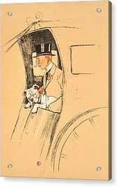 The Extra Passenger Acrylic Print by Cecil Charles Windsor Aldin