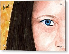 The Eyes Have It - Bonni Acrylic Print by Sam Sidders