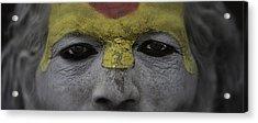 The Eyes Of A Holyman Acrylic Print by David Longstreath