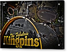 The Fabulous Kingpins Drums Acrylic Print by David Patterson