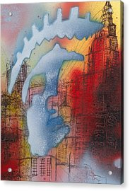 The Face Of A Nation Acrylic Print by Robert Wolverton Jr