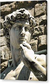 The Face Of David Acrylic Print