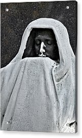 The Face Of Death - Graceland Cemetery Chicago Acrylic Print by Christine Till