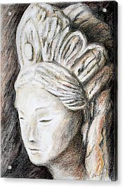 The Face Of Quan Yin Acrylic Print