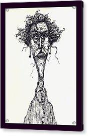 The Face Acrylic Print by Wayne Carlisi