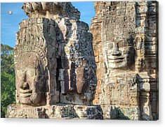 The Faces Of Ancient Khmer Acrylic Print