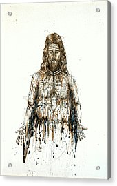 The Faces Of  Body Of Jesus Christ Acrylic Print by Thomas Lentz