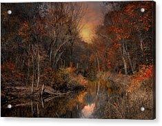 The Fading Glow Of Fall Acrylic Print