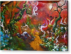 The Fairy Forest Acrylic Print by Michelle Dommer