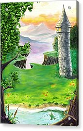 The Fairy Tale Tower Acrylic Print by Brad Simpson