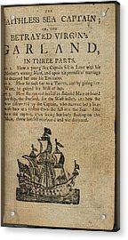 The Faithless Sea Captain Acrylic Print by British Library