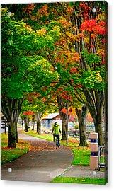 The Fall Bike Ride Acrylic Print