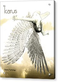 The Fall Of Icarus Acrylic Print by Quim Abella