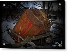 The Fall Of The Tin Man Acrylic Print by The Stone Age