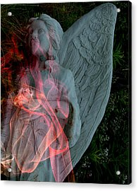 The Fallen Angel Acrylic Print by Irma BACKELANT GALLERIES