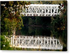 Acrylic Print featuring the photograph The Falls Bridge by Christopher Woods