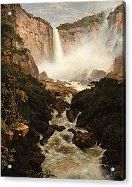 The Falls Of The Tequendama Near Bogota, New Granada Acrylic Print