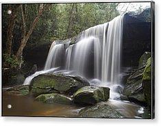 The Falls Acrylic Print by Steve Caldwell