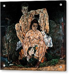 The Family, 1918 Acrylic Print by Egon Schiele