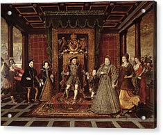 The Family Of Henry Viii An Allegory Of The Tudor Succession, C.1570-75 Panel Acrylic Print