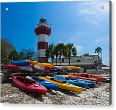 The Famous Lighthouse At Harbourtown On Hilton Head Island Acrylic Print