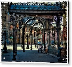 The Famous Pergola In Pioneer Square Acrylic Print by David Patterson