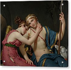The Farewell Of Telemachus And Eucharis Jacques-louis David Acrylic Print