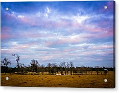 The Farm Before The Winter Storm  Acrylic Print