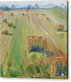 The Farm Acrylic Print by Josephine Hardison