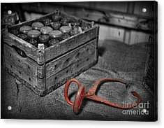 The Farmer's Milk Crate  Acrylic Print by Lee Dos Santos