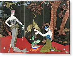 The Fashion For Lacquer Acrylic Print by Georges Barbier